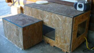 Outdoor Shelters for Cats. Outdoor Cat House Winter Warmer. Home Design Ideas